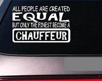"Chauffeur Equal Sticker *G625* 8"" Vinyl Limo Driver Tuxedo Prom Dress Celebrity"