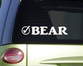 "Bear Check *I057* 8"" Sticker Decal Yellowstone Black Grizzy Polar"