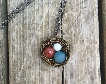 3 Egg Nest Necklace