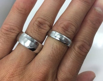 His and Hers Cobalt Engagement Rings