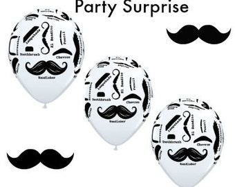 Mustache balloons, Baby Shower mustache balloons, Groom's party mustache balloons, Birthday Party Balloons,