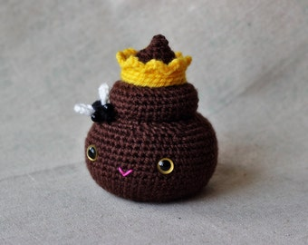 Poop Princess Amigurumi Pattern | Cute Kawaii Crochet Pattern | Gift Idea Tutorial | Funny Kids Crochet | Softie Toy | Crochet Fly | Crown