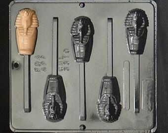 Egyptian Mummy Lollipop Chocolate Candy Mold 3310