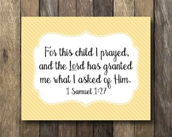 Items Similar To For This Child We Have Prayed Frame I