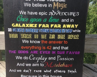 We Do Geek - Painted Canvas Wall Art