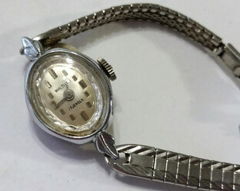 Vintage Waltham Mechanical Wristwatch Movement with Band - Steampunk, Altered Art Supplies - works, but needs service
