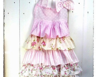 NEW! Penelope Frilly Tiered Girls Apron