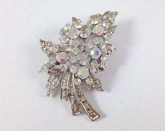 Rhinestone Crystal Brooch - Bridal Wedding Pendant for Making Haircomb Jewelry Necklace Bracelet