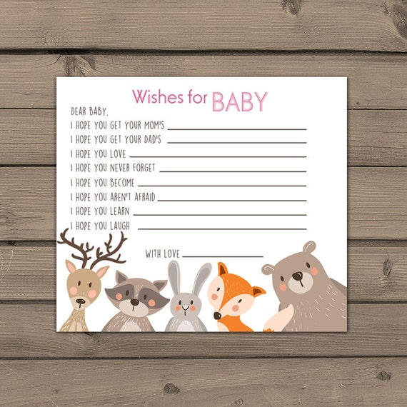 baby shower wishes for baby well wishes for baby cards woodland baby