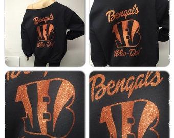Bengals off the shoulder sweatshirt