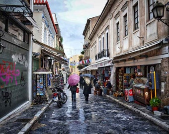 Greece Photography – Fine Art Photography - Plaka - Neighborhood - Greece Decor - Athens - Print - Home Decor - Art Print - Wall Art