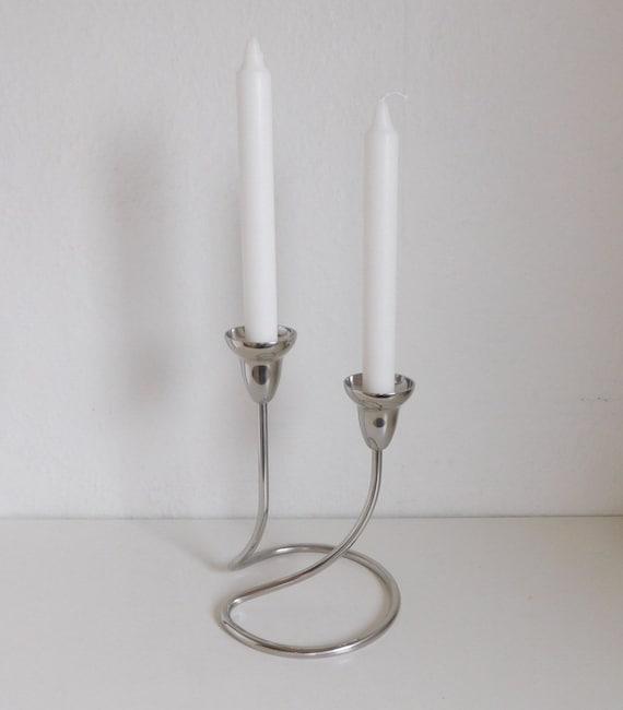 georg jensen swing candle holder double mirror polished. Black Bedroom Furniture Sets. Home Design Ideas