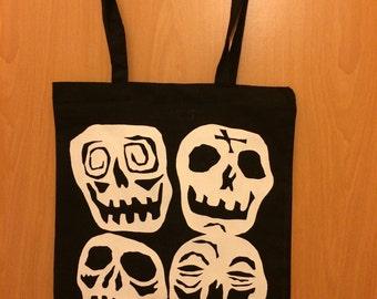 Desperately Seeking Susan Skull Suitcase Glow in the Dark Shoulder Tote Bag