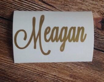vinyl decal ~ vinyl sticker - name decal - name sticker ~ custom made to order