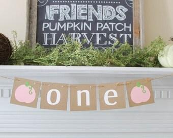 Little Pumpkin Banner- Little Pumpkin first birthday- Little Pumpkin- Fall Baby Shower-Fall 1st birthday- Little Pumpkin Party-