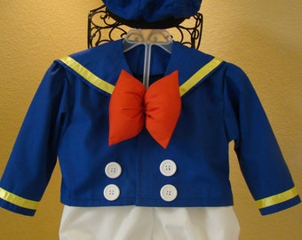 Donald Duck Inspired Traditional Costume: 3 piece set