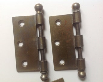 Vintage supply brass door hinges parts pieces salvaged hardware