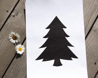 Paper Fabric Black Tree