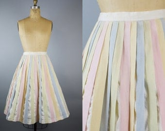 Merry Go Round Skirt / 50s Cotton Skirt / Original by Olga Skirt