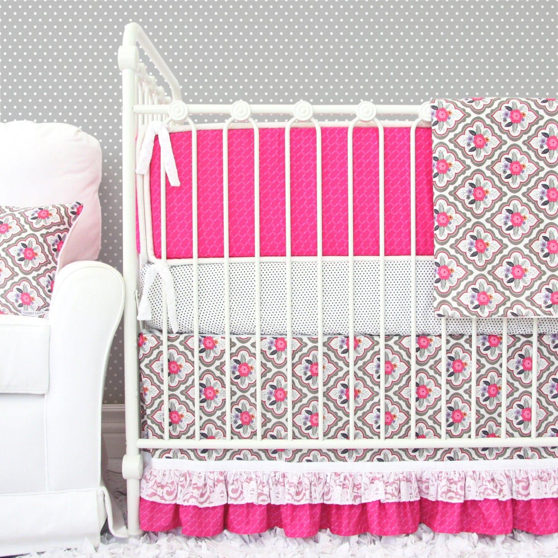 Vintage Floral Baby Bedding 2