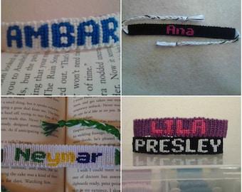 CUSTOM MADE - Name Friendship Bracelet