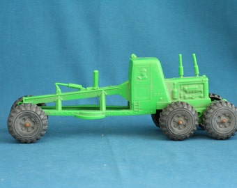 vintage Plastic Toy Farm Tractor Reliable made in Canada from the 70's Maybe 60's