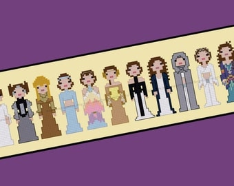 Amidala Padme Star Wars Episode 2 Attack of the Clones Cross Stitch - PDF Pattern - INSTANT Download
