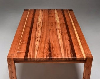 Salvaged Redwood Parsons Table