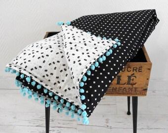 couvertures et couvre lits etsy. Black Bedroom Furniture Sets. Home Design Ideas