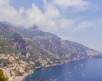 Italy Photography, Summer in Positano, Amalfi Coast, Italy, beach photography,Italian home decor,Positano Art, bedroom art, blue water coast