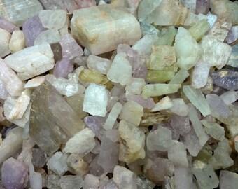 Wholesale Kunzite Rough by the Pound. Spodumene mix (Kunzite, Hiddenite, Triphane) from Afghanistan