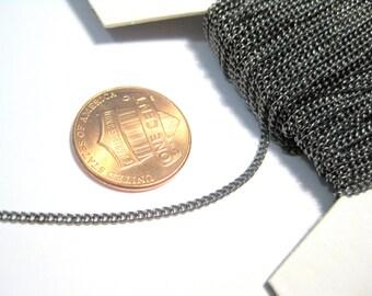 Gunmetal Curb Chains 1.5x1mm (No. 873)
