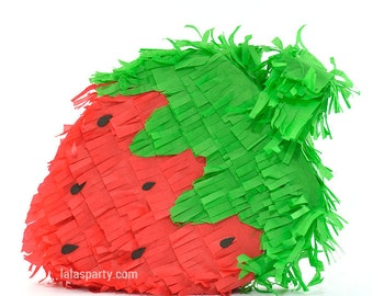 Strawberry Pinata, Strawberry Birthday Party Game, Strawberry Party Decoration,  Fruit Pinata, Strawberry Decoration PN1961