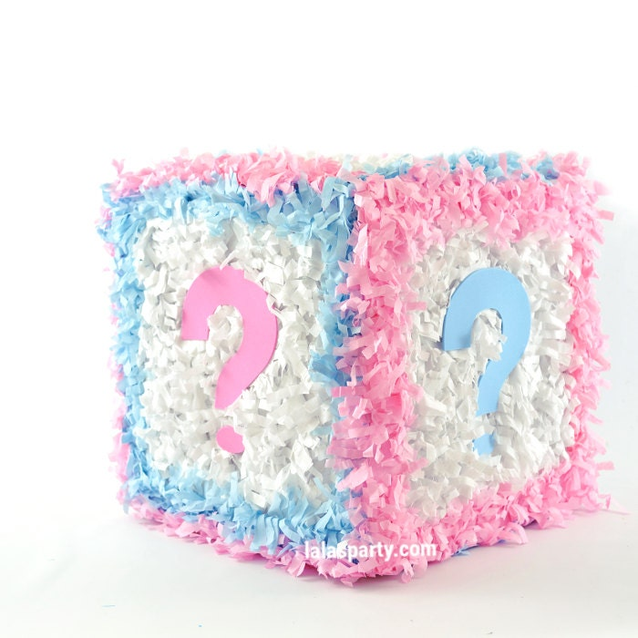 gender reveal cube hit pinata baby shower
