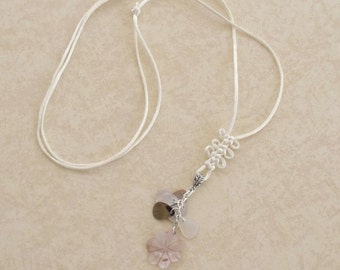 Simple Shell Necklace Charm, JND-753, CLEARNOW, Clearance