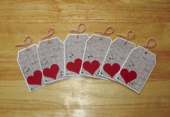 Wedding Heart Gift Tags : Heart Gift TagsLove Gift TagsWedding Favor Gift Tags ...
