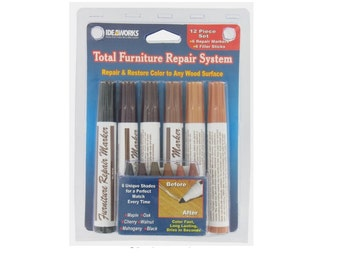Total Furniture Repair System 12 Pieces Helps Restore Scratched Cabinets And Floors