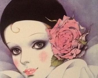 Vintage 1984 Paris Poster wonderful bright Colours Mira Fujita