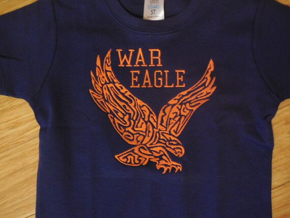 Items similar to auburn shirt war eagle shirt with for Auburn war eagle shirt