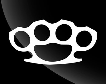 Brass Knuckles Decal Sticker