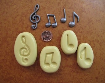 Music Note silicone flexible mold, resin mold, food mold, pmc mold, jewelry mold, fondant mold