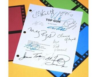 Top Gun Movie Script Signed Screenplay Autographed: Tom Cruise, Kelly McGillis, Val Kilmer, Anthony Edwards, Meg Ryan, Tim Robbins & More
