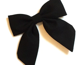 Solid Black Sailor Bow