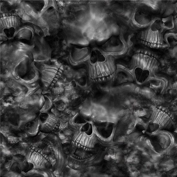 Reaper Skulls Camoflauge Air Release Intermediate Wrap Vinyl