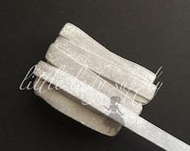 "Light Grey Frosted Glitter Elastic 3/8"", wholesale, glitter, headbands, elastic, ribbon"