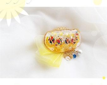 "Hair Ornament, ""Sunflower Friends Are Fun"" - (5)"