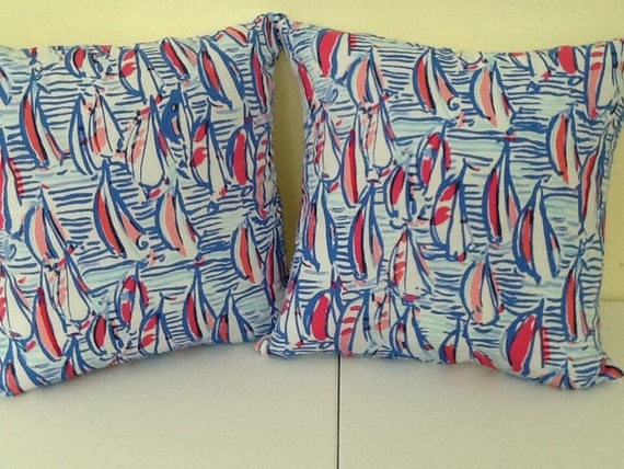 New Lumbar Toss Pillows With Inserts In Lilly Pulitzer Fabric