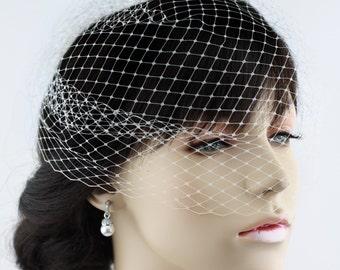1\2 Birdcage veil, Blusher veil, French Net Veil, Russia Net Veil, Wedding Veil, Bridal Veil