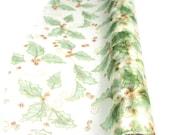 Holiday Green Leaf & Berries Organza Roll, 18-3/4-inch, 15-feet