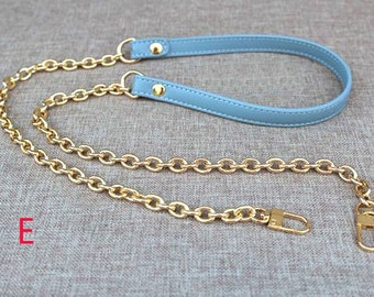 8mm wide metal purse chain,12mm wide pu leather shoulder chain, bag chain